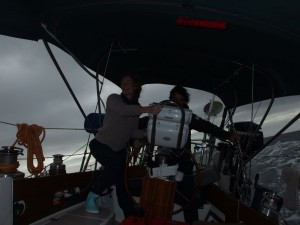 Marlein and Simone just after the strong winds subsided, nearing landfall in Camaret sur Mer