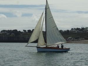 Classic Spritsail rig in Camaret sur Mer