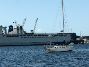 Paddy, just did around the world in this (the little one) and wrote a book! Falmouth Harbour